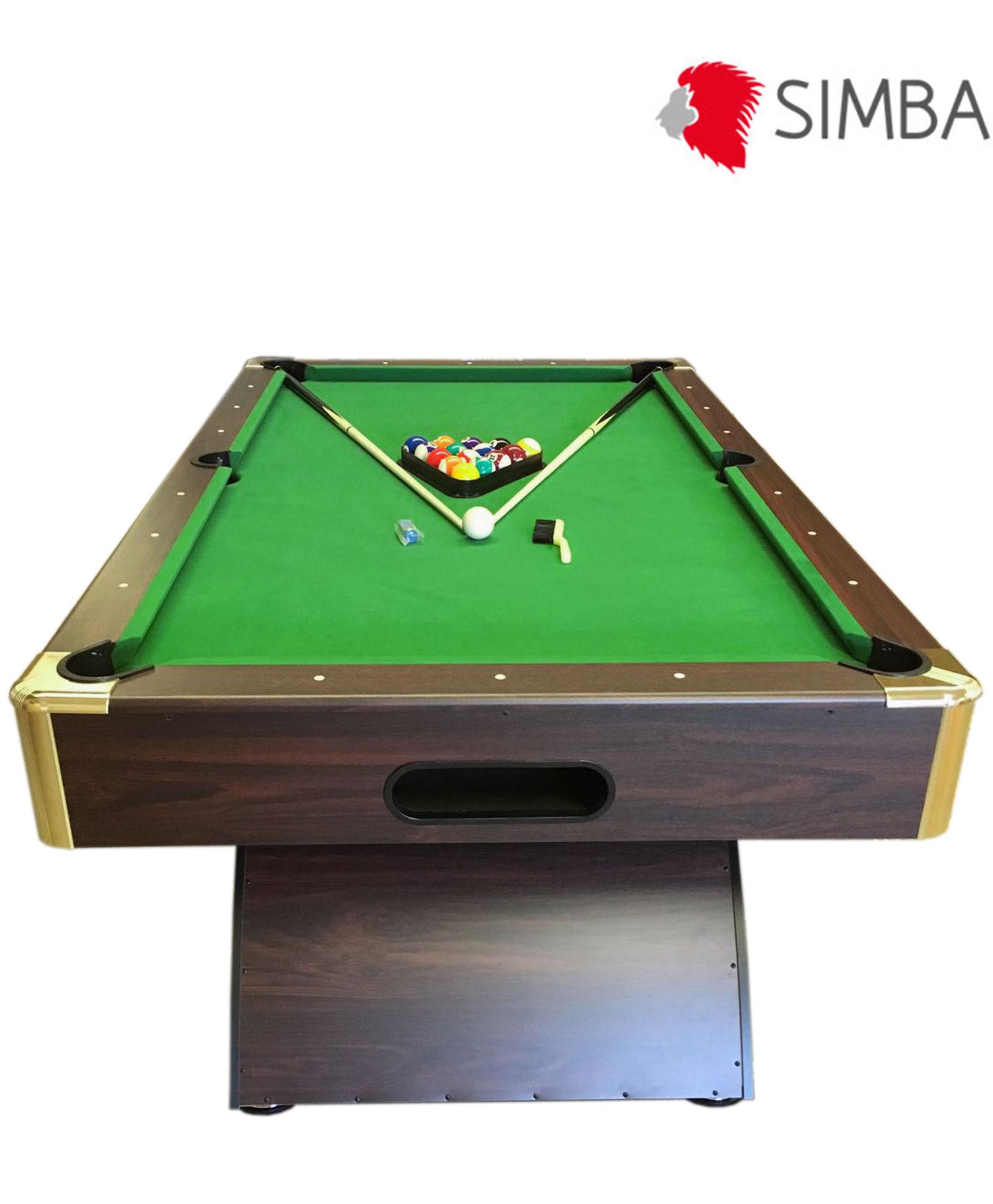 Tavolo da biliardo carambola misura 188 x 94 cm snooker verde 7 ft annibale ebay - Misure tavolo da biliardo ...