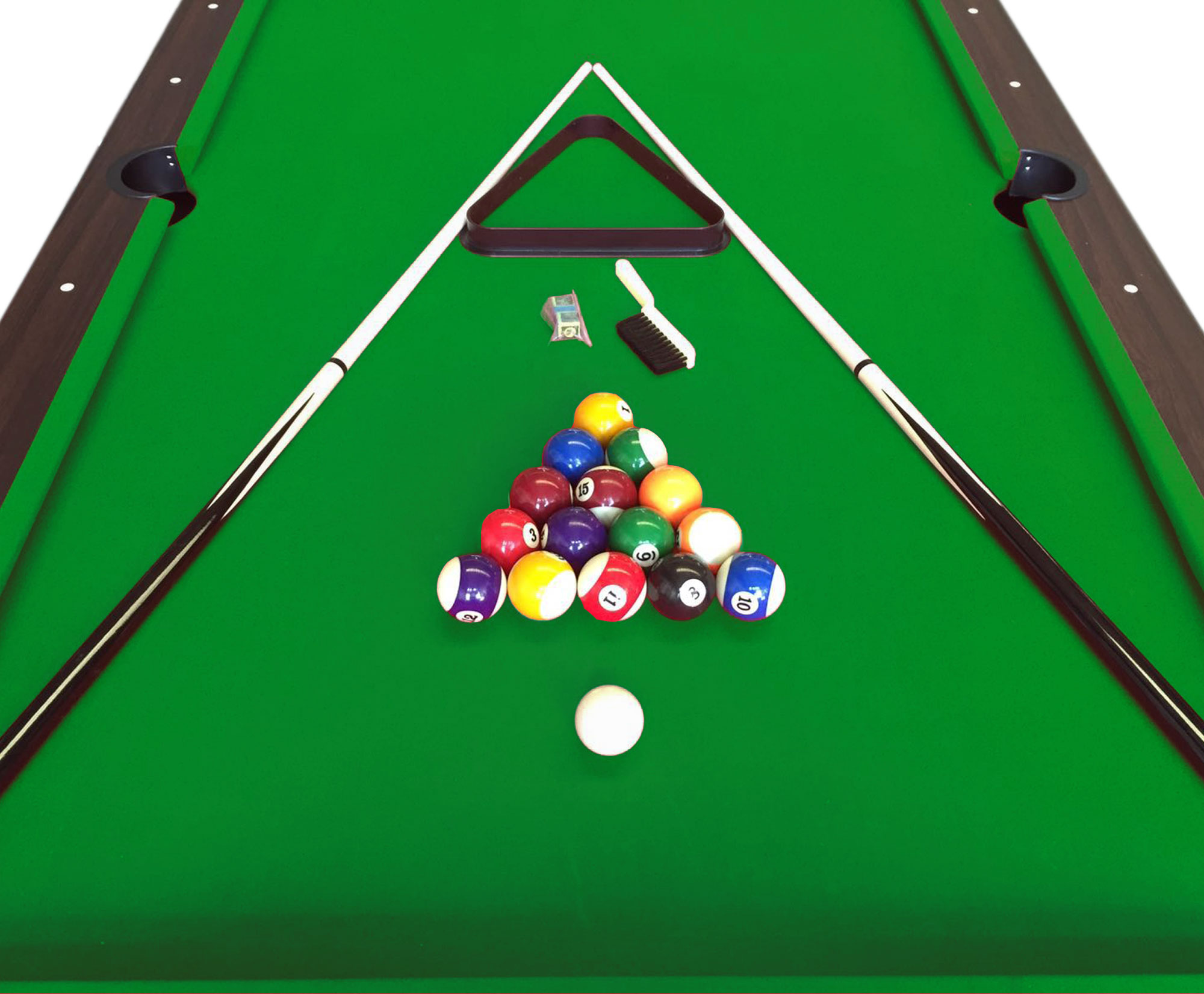 Tavolo da biliardo carambola misura 220 x 110 cm snooker verde 8 ft leonida ebay - Misure tavolo da biliardo ...