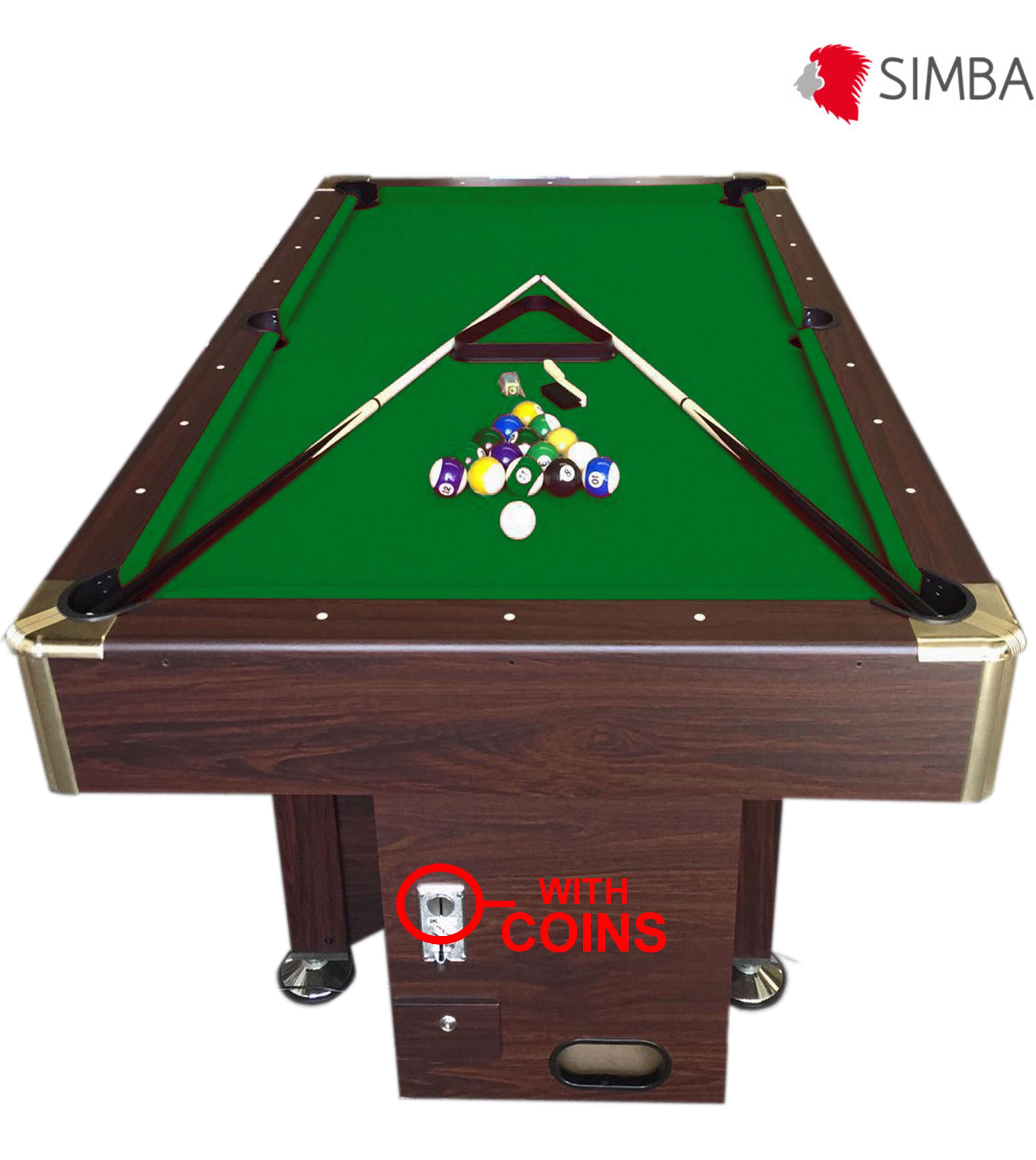 Zeus table de pool AMERICAIN monnayeur BILLARD ft 8 avec VerteeBay Snooker H29eYDWEI