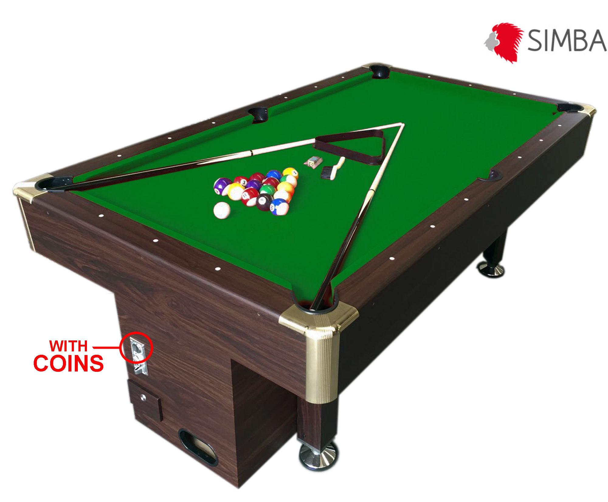 Mesa de billar juegos de billar carambola con monedero electr nico