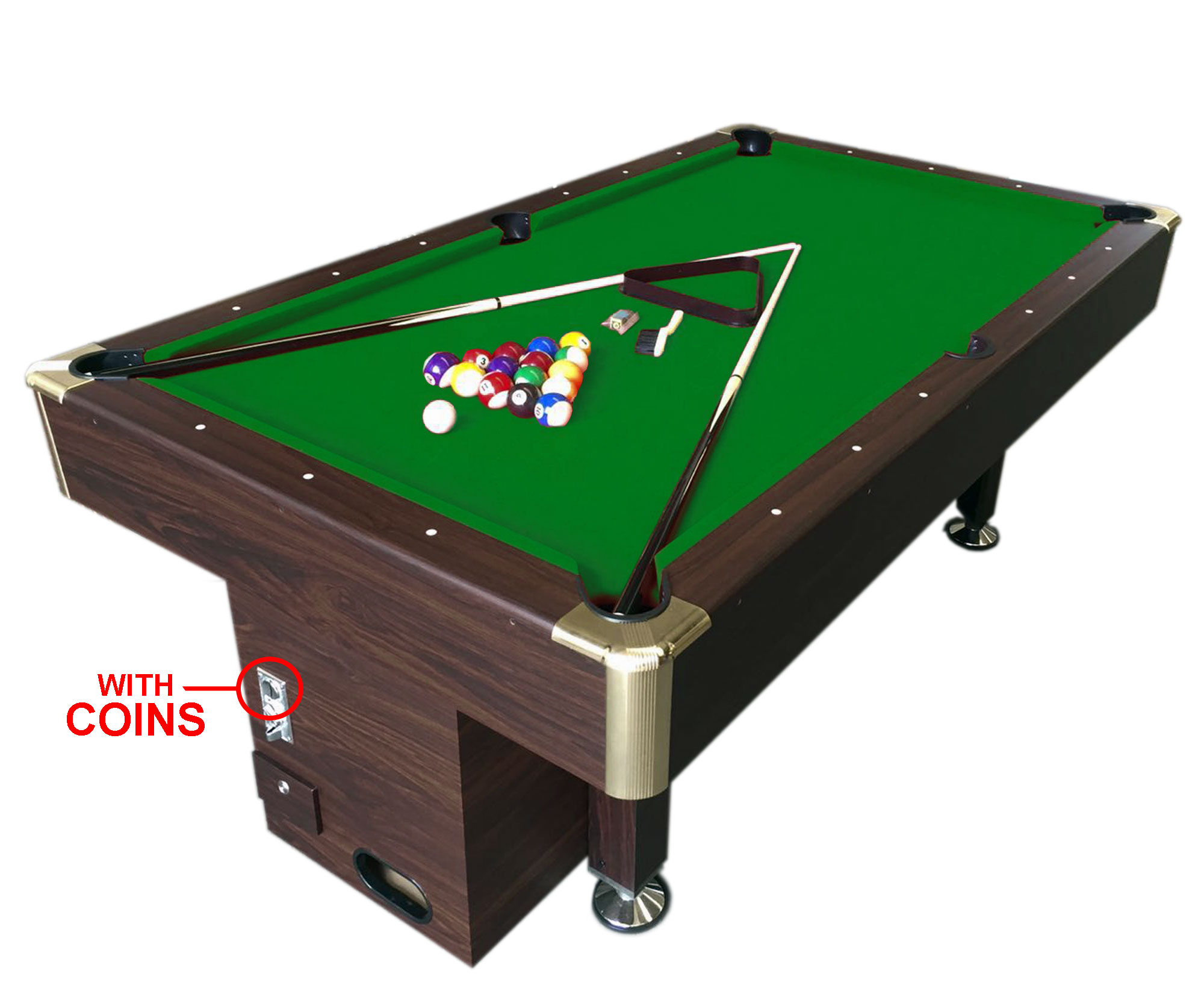 8 ft pool table billiard with coin machine for public. Black Bedroom Furniture Sets. Home Design Ideas