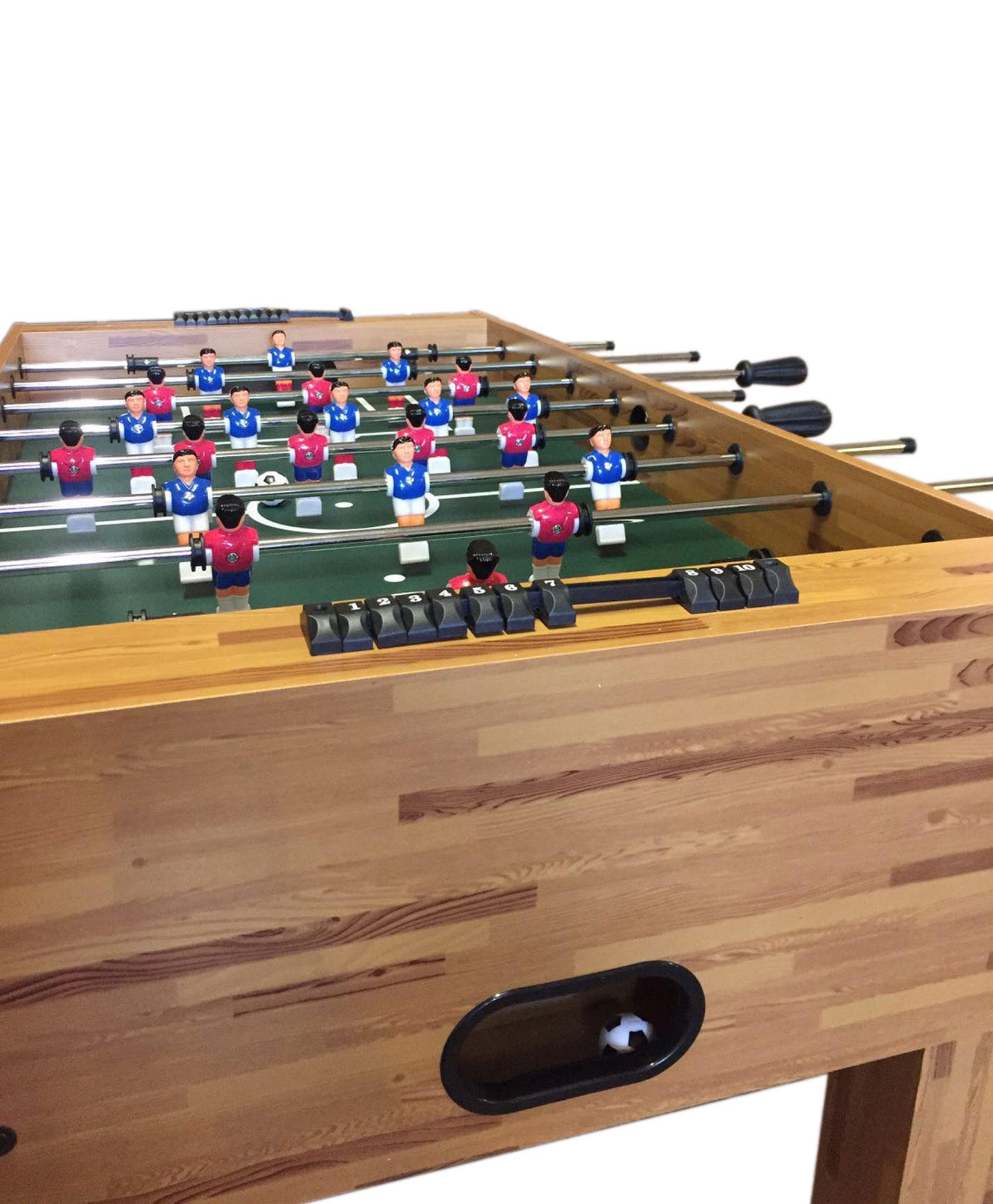 Kids Childrens Football Field 100 X 133cm: Soccer Football Fusball Play Table Wooden Table Family