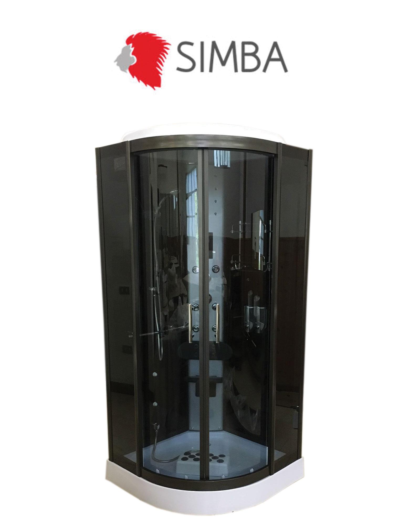 Box doccia idromassaggio 90 x 90 arredobagno cabina doccia - Box doccia cromoterapia ...