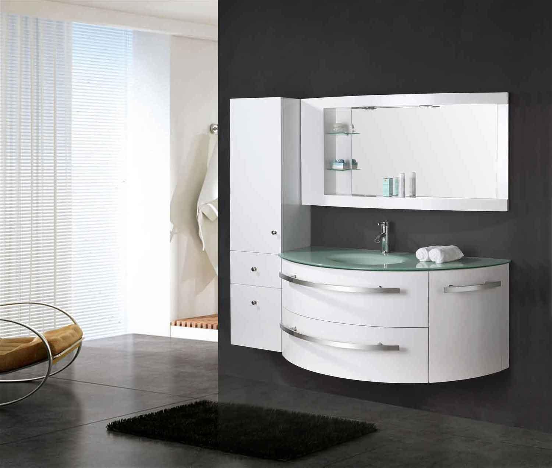 Mobile bagno colonna completo 120 cm lavabo rubinetti for Mobili da bagno bricoman