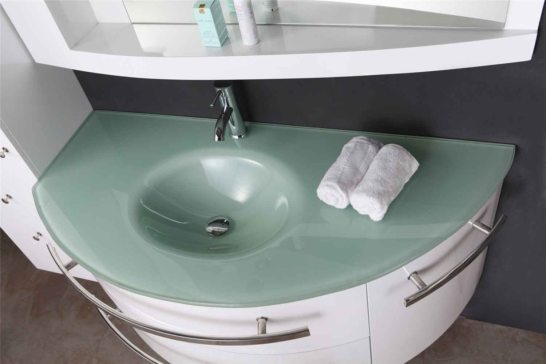 Mobile bagno colonna completo 120 cm lavabo rubinetti - Mobile per lavabo a colonna ...