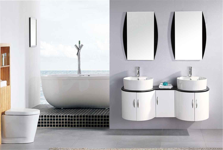 Mobile bagno arredo bagno completo 138 cm doppio lavabo for Bagno doppio lavabo offerta
