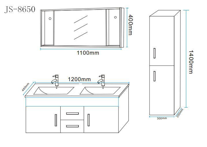 Meuble salle de bain 120 cm blanc colonne vasque for Mobile bagno misure