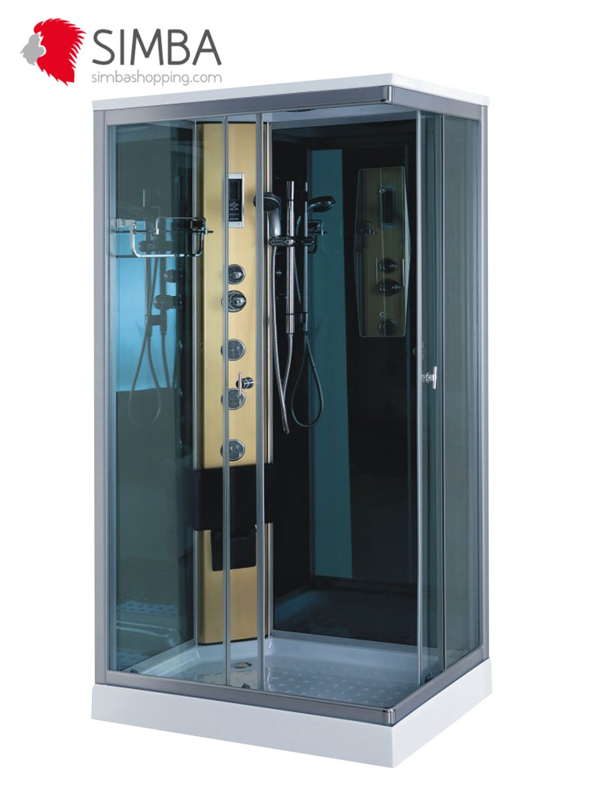 cabine de douche hydromassante spa bain massage verre 5 mm portofino 100 x 70 cm ebay. Black Bedroom Furniture Sets. Home Design Ideas