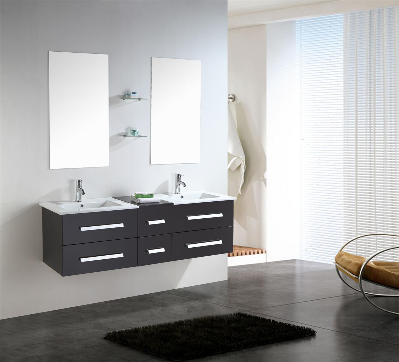 Mobile arredo bagno arredobagno 150 cm sospeso rubinetteria lavabo rome ebay - Due lavandini bagno ...