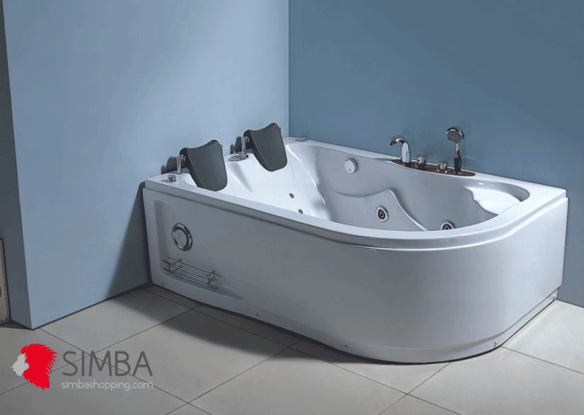 WHIRLPOOL BATH TUB SPA CORNER BATH TUB 170 x 115 cm HOT TUB Havana ...
