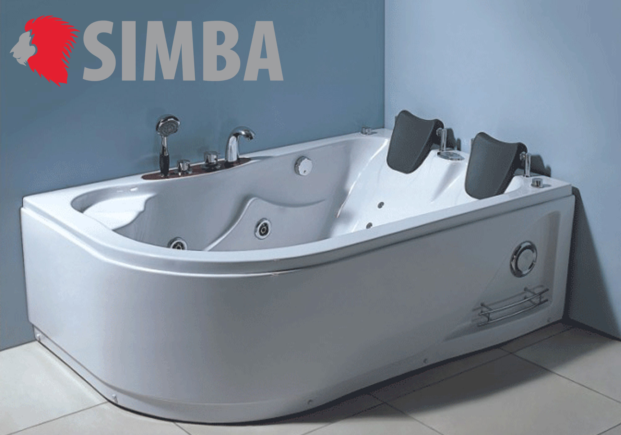 WHIRLPOOL BATH TUB SPA CORNER BATH TUB 170 x 115 cm HOT TUB Varadero ...