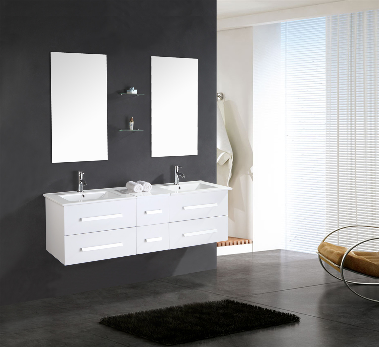 meuble salle de bain 150 cm blanc set vasque robinetterie white rome ensemble ebay. Black Bedroom Furniture Sets. Home Design Ideas