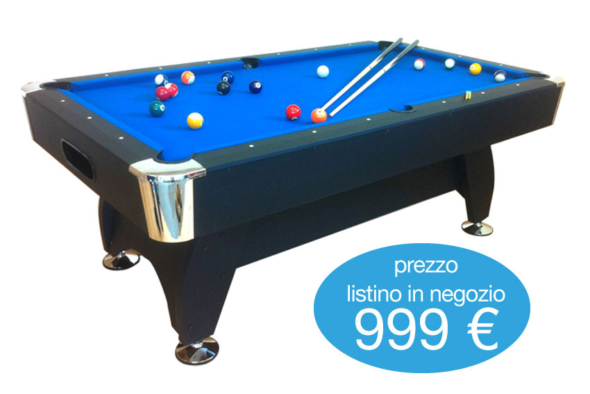Tavolo da biliardo 8ft super accessoriato carambola pool - Misure tavolo da biliardo ...
