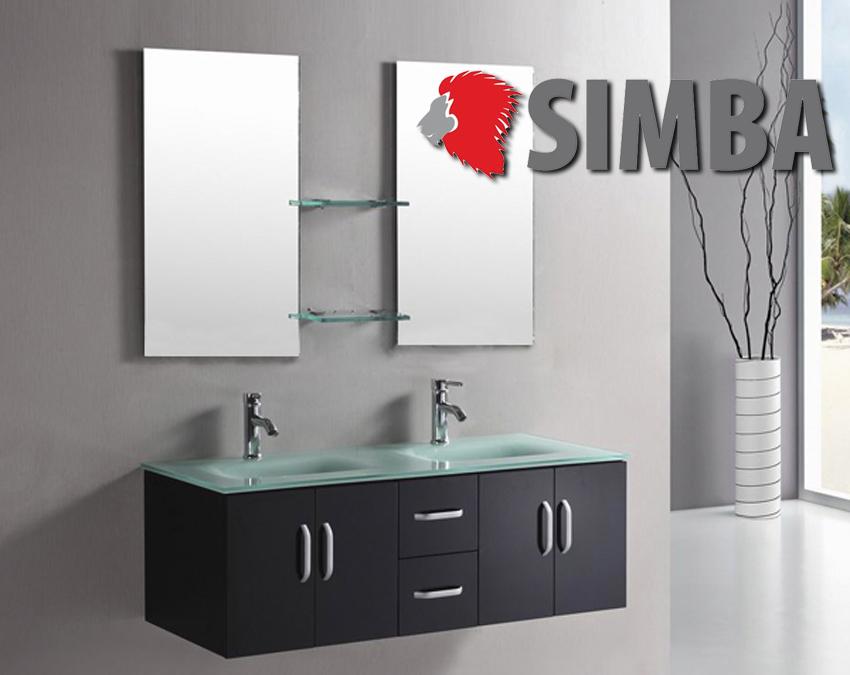 Mobile bagno lavabo rubinetti inclusi arredo bagno completo ice