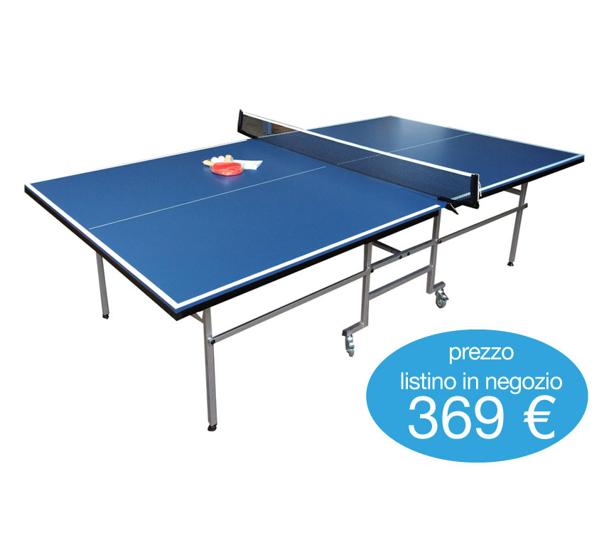 Tavolo ping pong professionale blue 2 racchette 3 - Tavolo ping pong misure ...